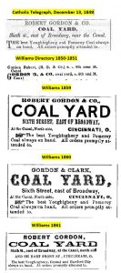 Ads for Robert Gordon's Coal Business