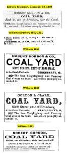 Ads for Robert Gordon's Coal Business