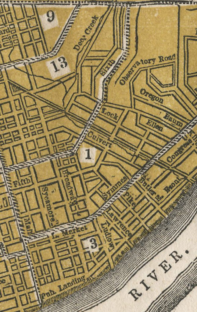 Map of Bucktown Area from Williams Directory 1855