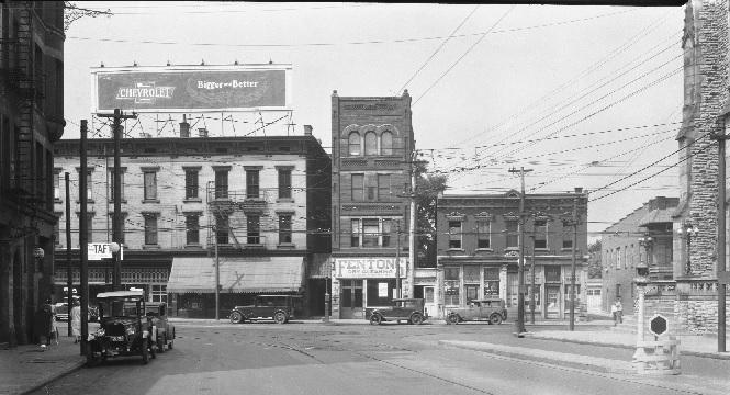 DeSales Corner Looking West August 1928