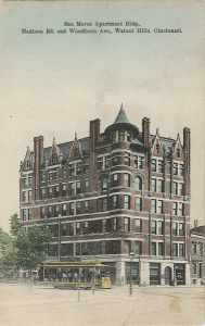 San Marco Apartments, DeSales Corner, with Streetcar