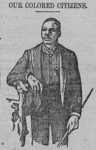 Woodcut, Ganville Woods standing