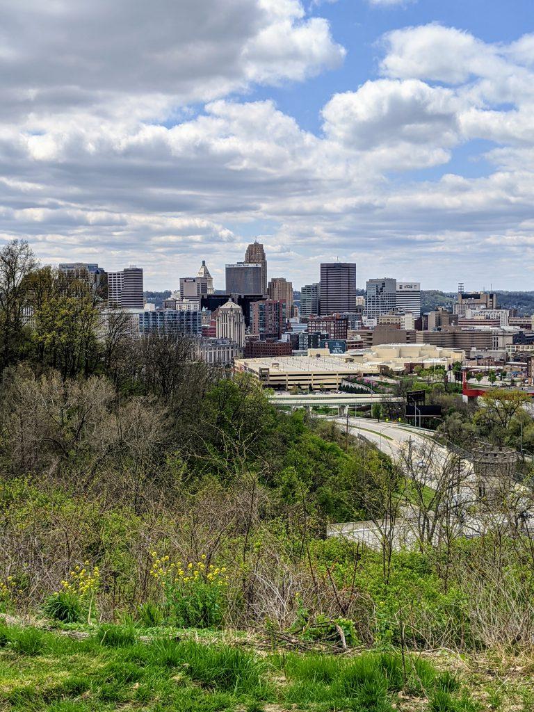 Downtown from Cincinnati Art Museum